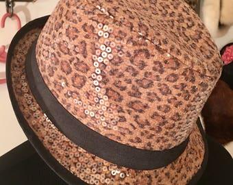 a31d99cd5a4c Vintage Leopard Print Statement Hat