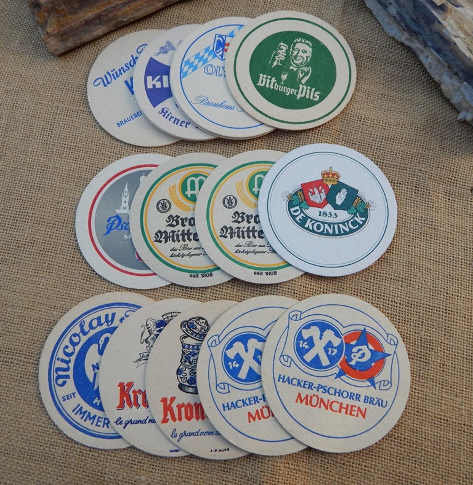 Authentic German Beer Coasters ~ 16 German Beer Coasters ~ Beer Coasters ~ German Beer Coasters ~ FREE SHIPPING