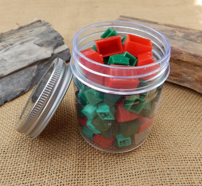 Monopoly Wood Plastic Houses Hotels Vintage Monopoly Game Pieces Monopoly Red Green And Silver Houses And Hotels Free Shipping