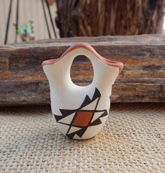 Acoma Pueblo Wedding Vase Hand Painted Acoma Pueblo New