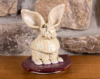 Ceramic Rabbit Sculpture