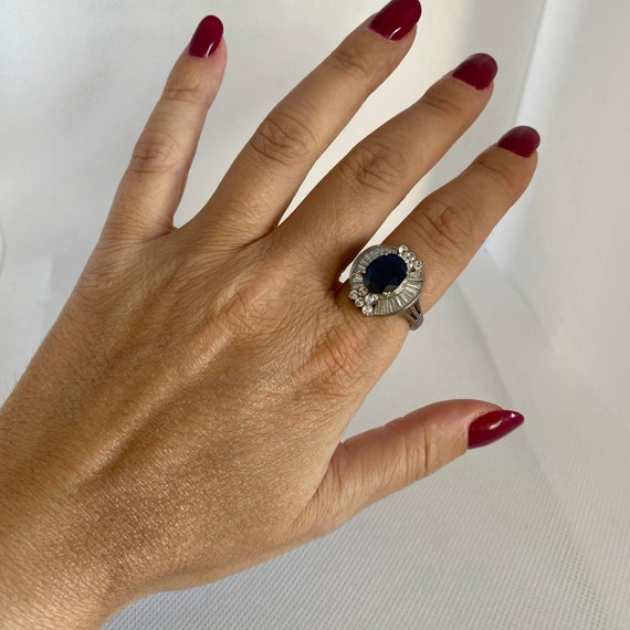 Vintage silver and gemstone ring - image 2