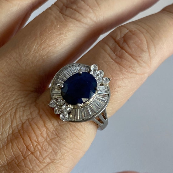 Vintage silver and gemstone ring - image 5