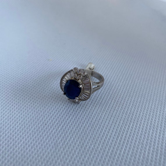 Vintage silver and gemstone ring - image 3
