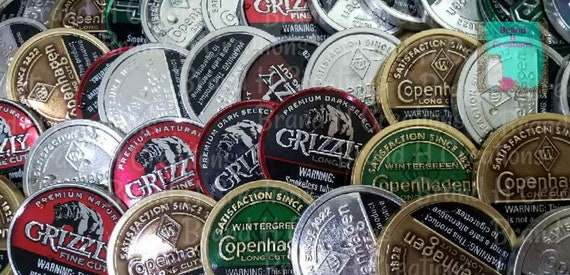 Grizzly Snuff Lid Car Scent/Grizzly Dip Lid Car Scent/Aroma Bead Air  Freshener/Snuff Lid Car Freshener/Car Freshie