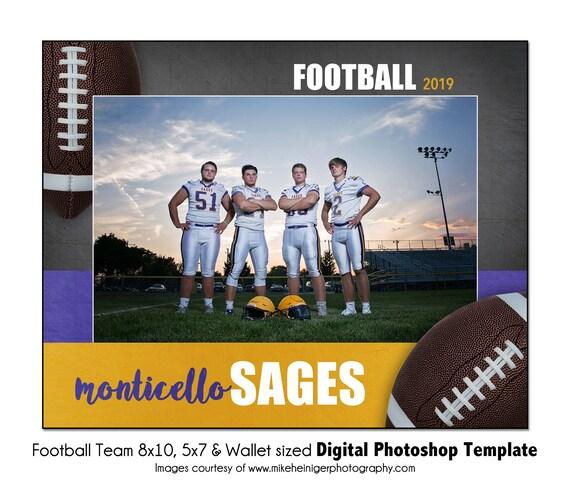 Digital File Sports Photo Template FOOTBALL Individual 6