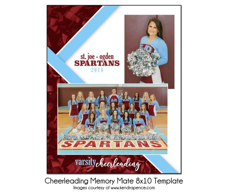 CHEERLEADING MM9-8x10 Memory Mate Sports Photo Template Digital File