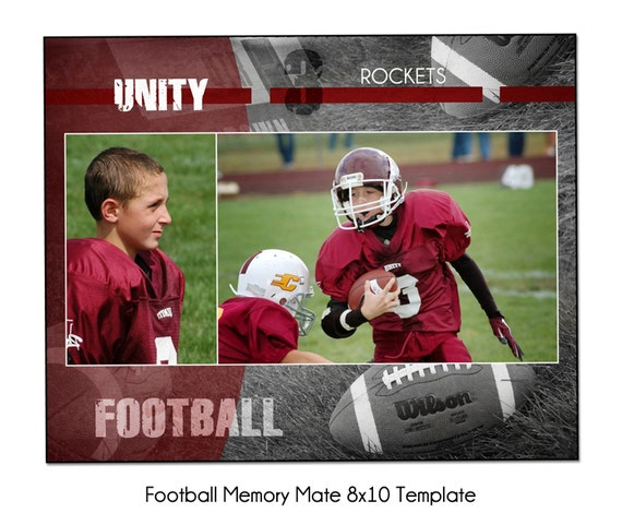 Sports Memory Mate Photo Templates FOOTBALL PACK A Digital Files Only