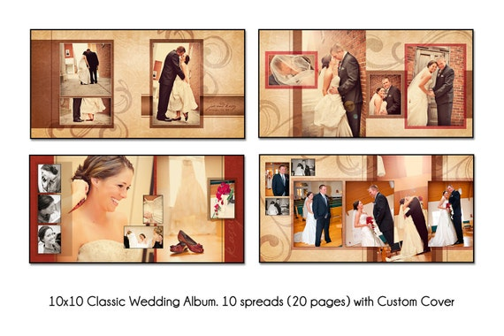 Psd Wedding Album Template Autumn Swirl 12x12 10spread 20 Etsy