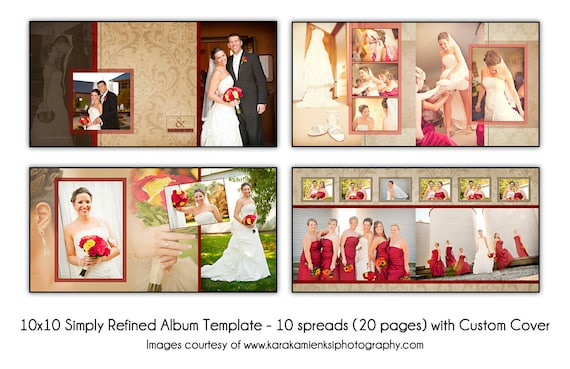 Wedding Album Template | Psd Wedding Album Template Simply Refined 12x2 10 Spread Etsy