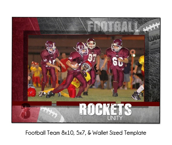 SOFTBALL Team 2-8X10 5x7 /& Wallet Memory Mate Sports Photo Template Digital File