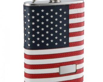 31b31f19c6c7 8oz Personalized American Flag Flask