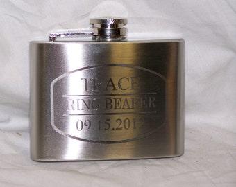 Custom Engraved 4oz Flask