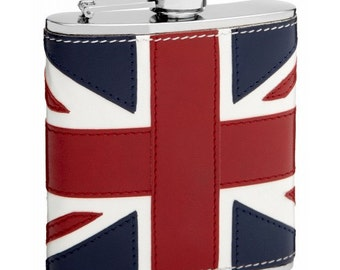 6oz British Flag Hip Flask TOP32