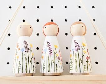 Wildflower Peg Doll