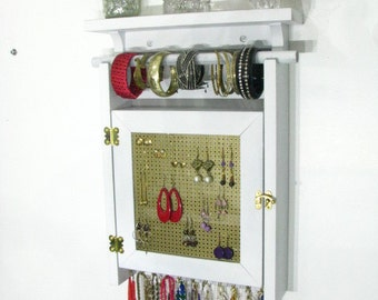 Hanging Jewelry Organizer Display with two layers of storage