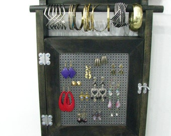 Exceptional Hanging Jewelry Box Organizer With Two Layers Of Storage