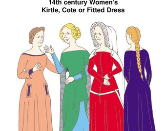RH017 - 14th century Women's Kirtle or Cotehardie Pattern
