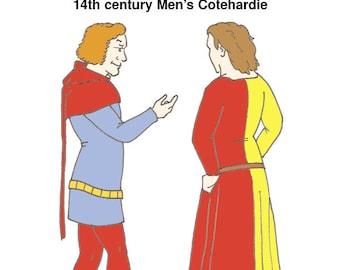 RH022 - 14th century Man's Cotehardie Pattern