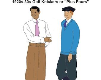 "RH1325 — 1920s-30s Knickerbockers or ""Plus Fours"""