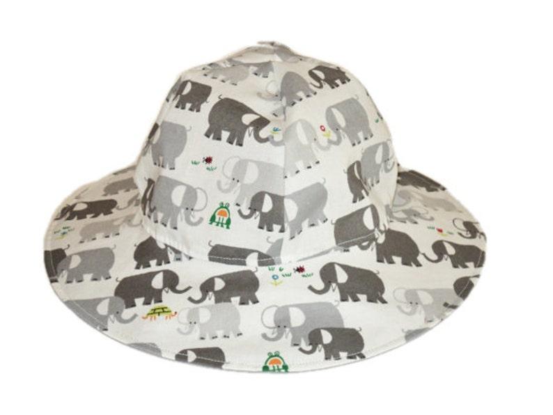 814135c601a Organic Baby Sun Hat Toddler Hat Kids Summer Hat Elephant