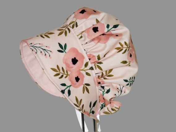 Baby Sun Hat Baby Bonnet Floppy Beach Hat Floral Baby Girl  d0d47626b26