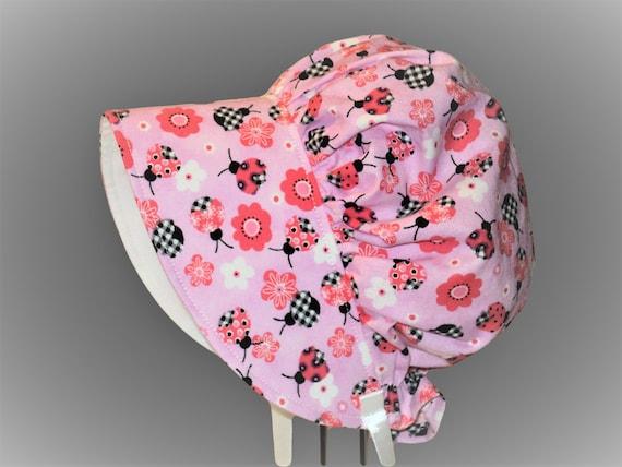 Ladybug Baby Bonnet Baby Girl Bonnet Size 3-6Mo. Ready To  f341daf64c49