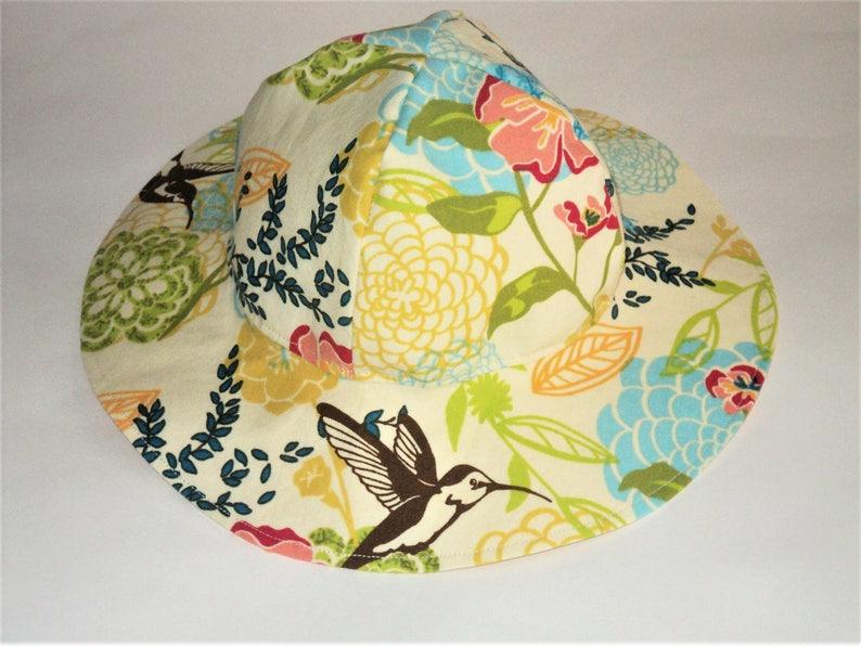 0662562d9c576 Baby Sun Hat Girls Floral Hat Toddler Hat Wide Brim Cotton
