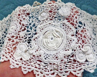 Irish crochet lace | Etsy