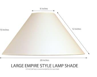 Empire lamp shade etsy empire lamp shade coolie lamp shade large lamp shade white fabric lamp shade aloadofball Images