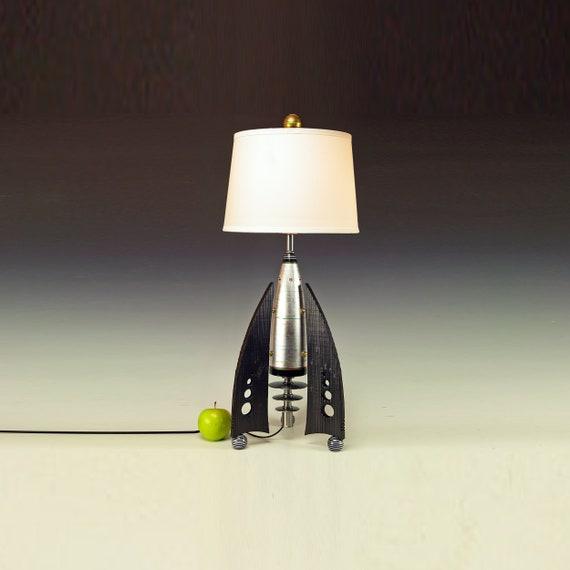 Rocket lamp, Atomic lamp, Steam punk lamp, Desk lamp, Bedroom lamps, Frank  Luedtke design, Modern table lamp, Bedside lamp. 239