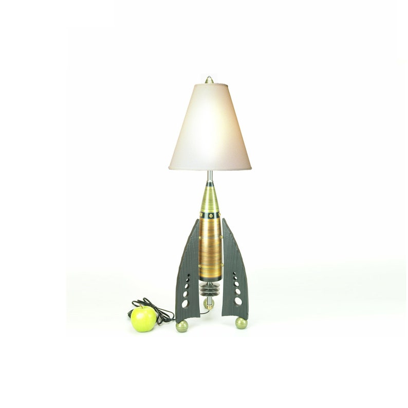 Rocket Lamp READY TO SHIP Atomic table lamp Futuristic lamp art deco lamp  High Desert Dreams Bedside lamp living room lamp unique lamp #300