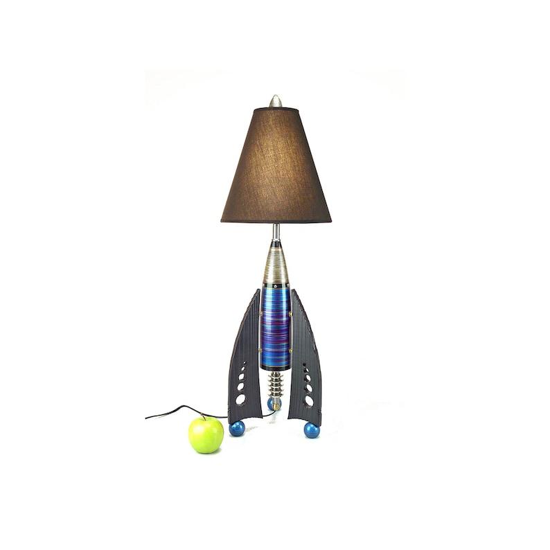 Rocket Lamp READY TO SHIP Atomic table lamp Futuristic lamp art deco lamp  High Desert Dreams Bedside lamp living room lamp unique lamp #299