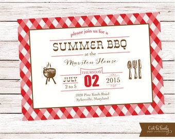 summer barbecue invitation bbq invitation summer cookout etsy