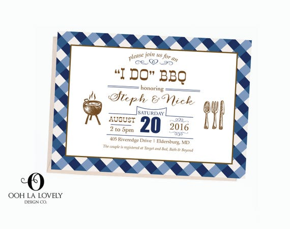 i do bbq summer barbecue invitation bbq invitation cookout etsy