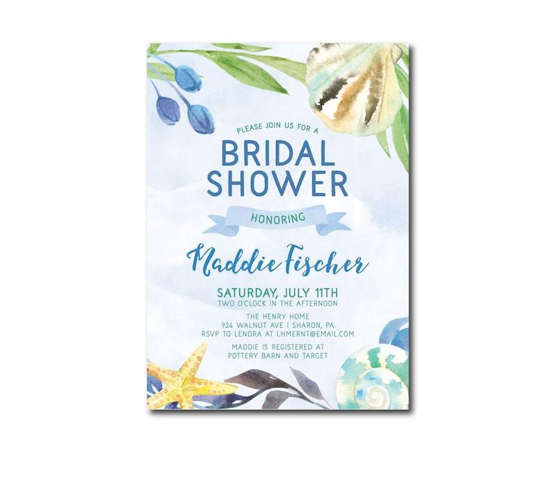 8de001c82c8c Tropical Under the Sea Beach Bridal Shower Invitation Pool