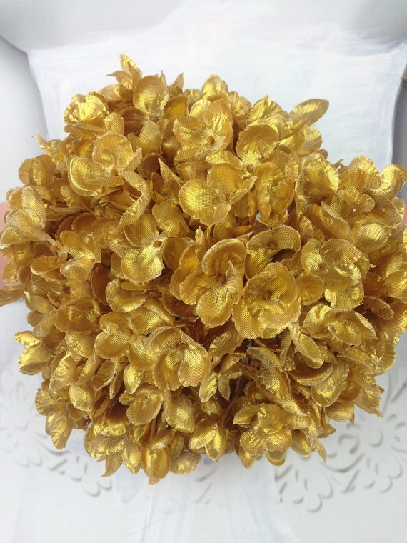 New metallic silk hydrangea gold silk flowers silver silk etsy new metallic silk hydrangea gold silk flowers silver silk flowers gold flowers silver flowers mightylinksfo