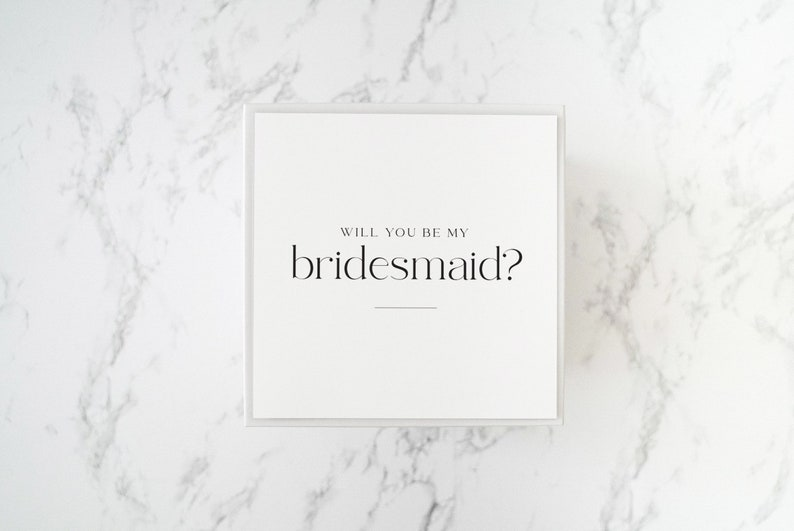 Bridesmaid proposal Modern Design Gift Box: Package 1 Thank you gift Birthday gift box