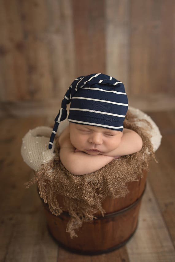 52e2b48693e coming home outfit navy blue knot hat hospital hat