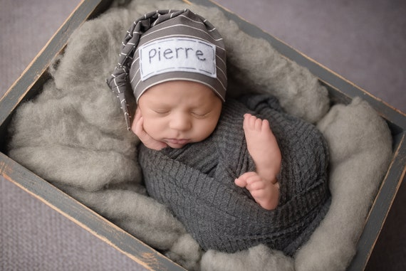 882653255a6 Personalized Newborn Hat baby boy baby shower gift