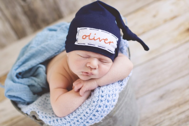 a4d7ec9ff08 Newborn boy coming home outfit baby knot hat name