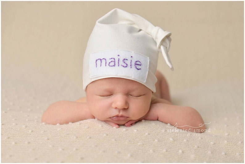 fd4c4af76f2 Newborn baby personalized hat baby shower gift hospital