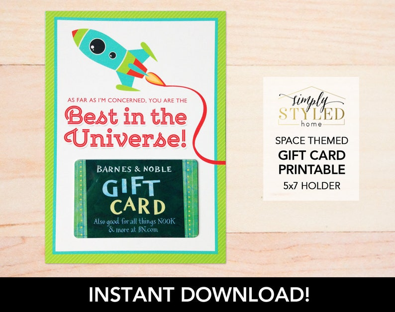 graphic about Barnes and Noble Printable Gift Card titled Instantaneous \