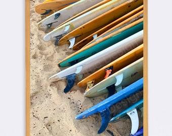 Surfboard Photo Print - Unframed - Original Travel Modern Photography Image