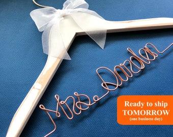 Wedding Hanger, Gift for Bride, Bridesmaid Dress Hanger, Bridal Hanger, Dress Hanger, Custom Wedding Hanger, Personalized Hanger, Wine
