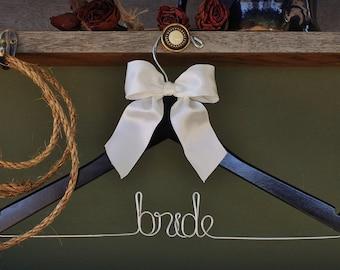 Bridesmaid Gift   Bride Hanger   Wedding Dress   Rustic Wedding   Wire Hanger   Bachelorette Party   Bachelorette Party   Unique Shower Gift