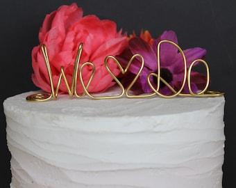 Rustic Cake Topper - Wire Cake Topper - I do Cake Topper - Personalized Cake Topper - Barn Wedding - Name Cake Topper - Wedding