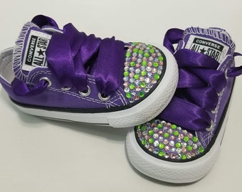 da24729529ff Baby Toddler Bling Royalty Converse Purple and Gold Gold