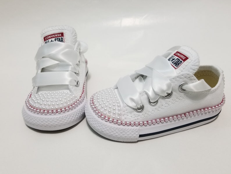 Pearl infant and toddler converse low tops | Toddler