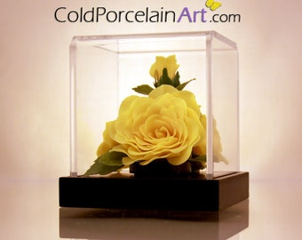 Yellow Rose - ColdPorcelainArt - Made to Order - Featured on ETSYLUSH
